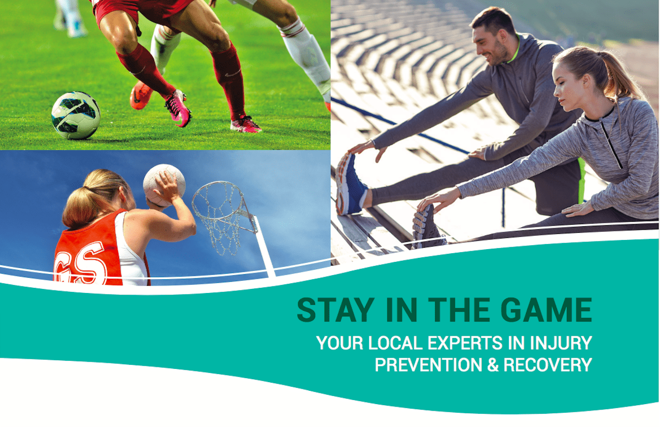Stay in the game Fairfield Physiotherapy Referral program banner 4